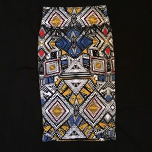 Chelsea & Theodore Tribal Pattern Pencil Skirt